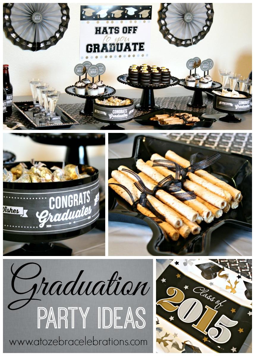 Graduation Dinner Party Ideas  Graduation Party Ideas – A to Zebra Celebrations
