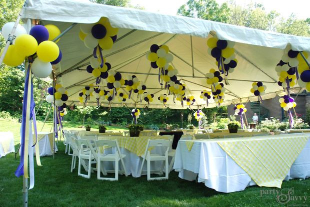Graduation Party Ideas For Backyard  A Purple & Gold Graduation Party Miscellaneous