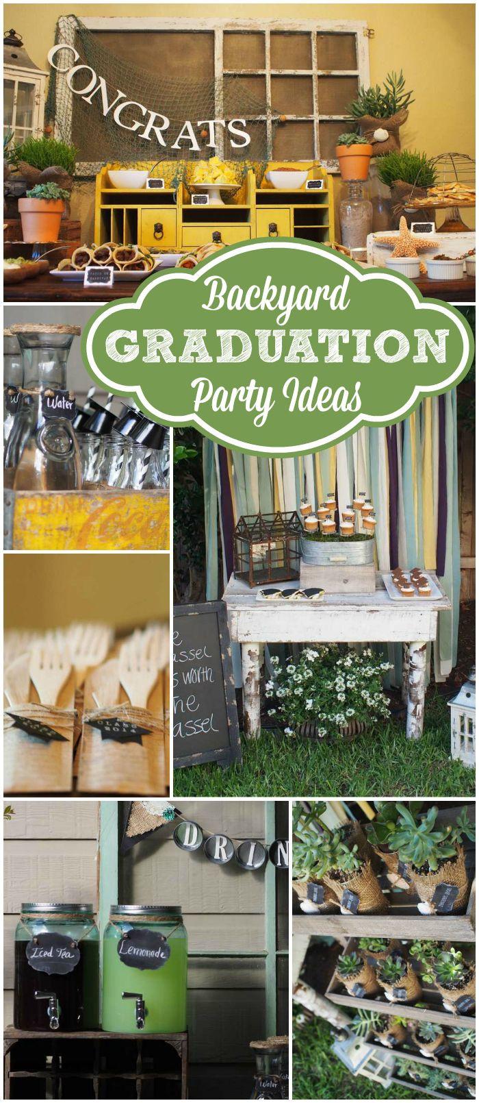 "Graduation Party Ideas For Backyard  Graduation and ocean Graduation End of School ""Backyard"