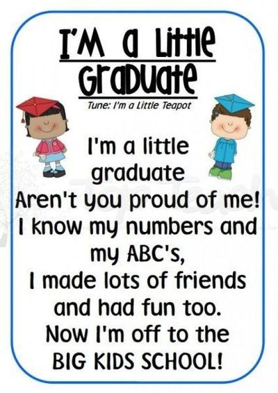 Graduation Quotes For Kids  Preschool Poems Quotes QuotesGram by quotesgram