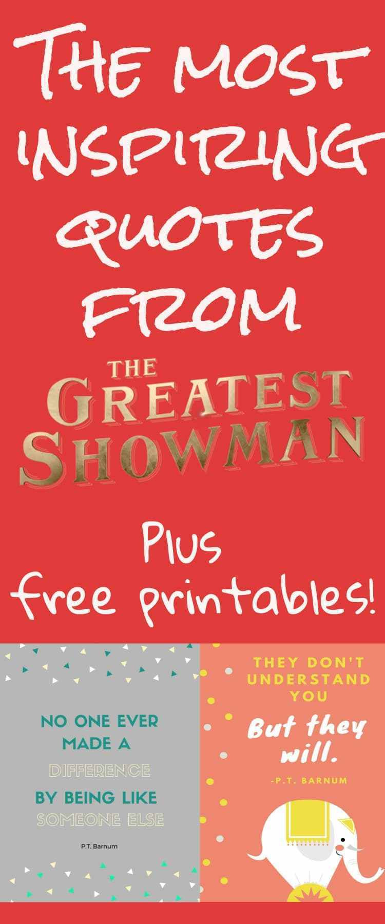 Greatest Inspirational Quotes  The Best Inspiring Quotes from The Greatest Showman Free