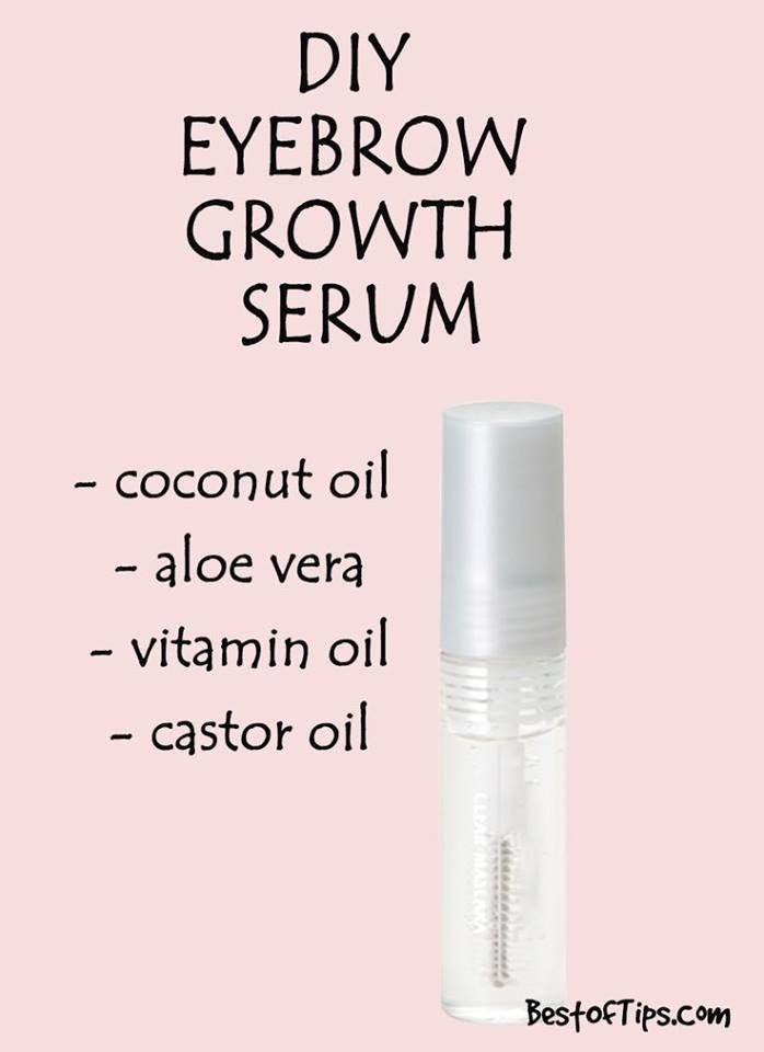 Hair Growth Serum DIY  DIY NATURAL SERUM FOR THICKER EYEBROWS