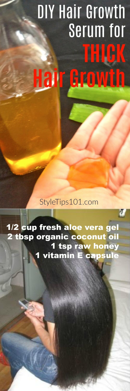 Hair Growth Serum DIY  Coconut Oil & Aloe Vera DIY Hair Growth Serum