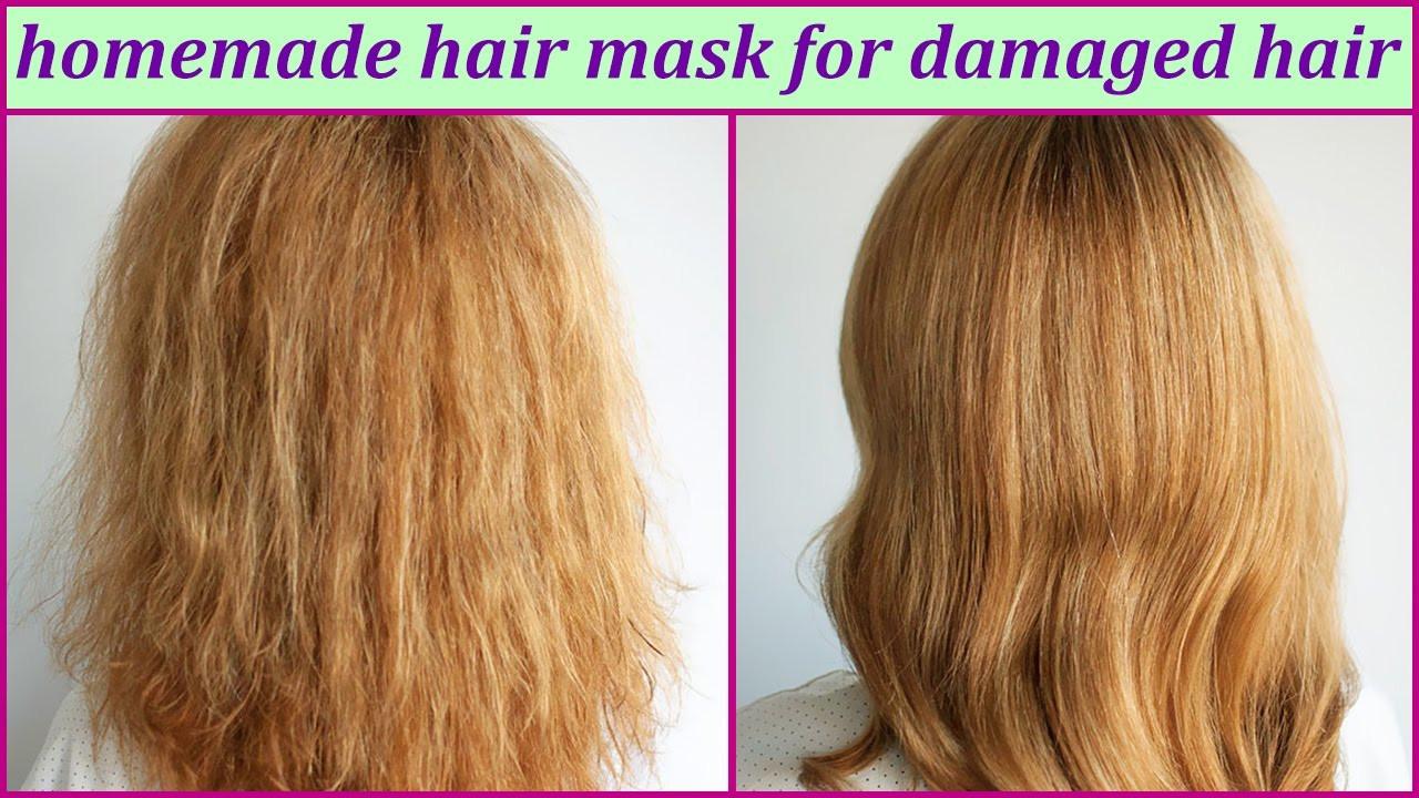 Hair Masks For Damaged Hair DIY  Homemade Hair Mask For Damaged Hair