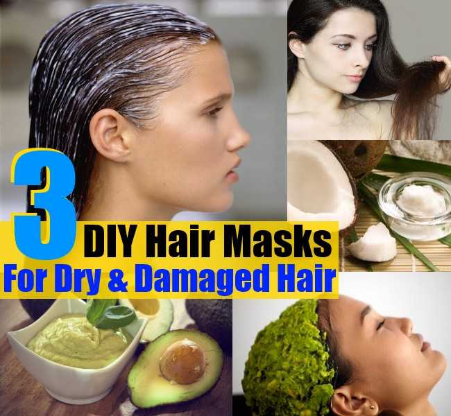 Hair Masks For Damaged Hair DIY  3 DIY Hair Masks For Dry And Damaged Hair