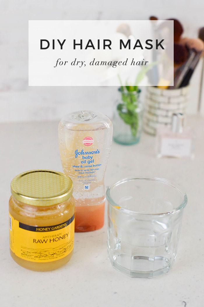 Hair Masks For Damaged Hair DIY  DIY Hair Mask for Dry Damaged Hair