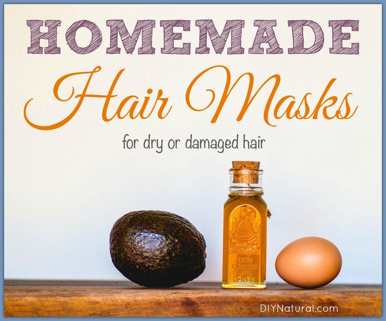 Hair Masks For Damaged Hair DIY  Homemade Hair Masks for Dry or Damaged Hair