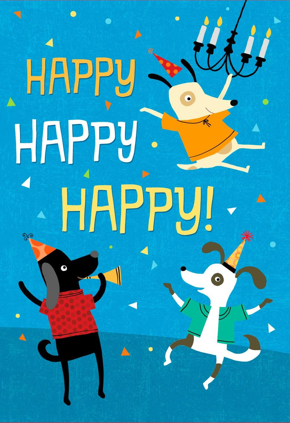 Hallmark Online Birthday Card  Who Let the Dogs Out Musical Birthday Card Greeting