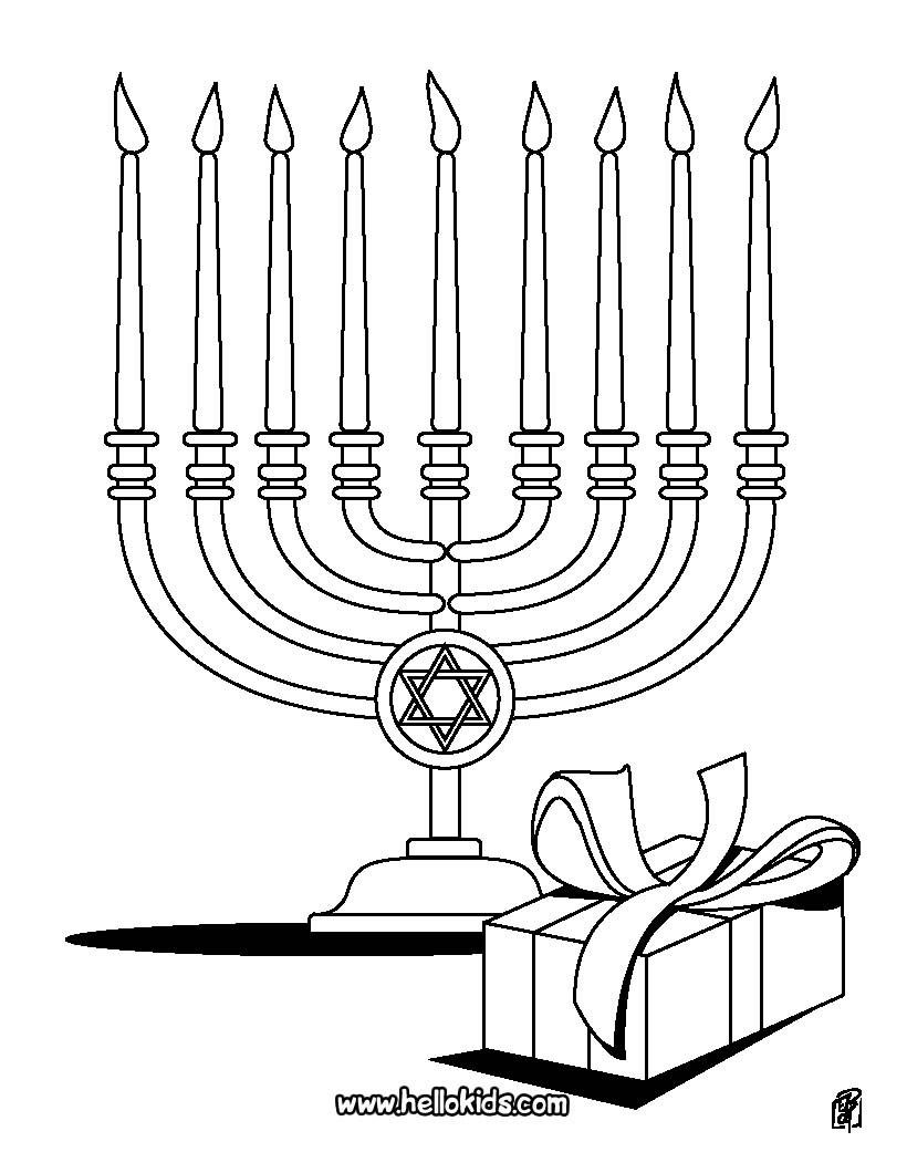 Hanukkah Coloring Pages  HANUKKAH coloring pages Hanukiah
