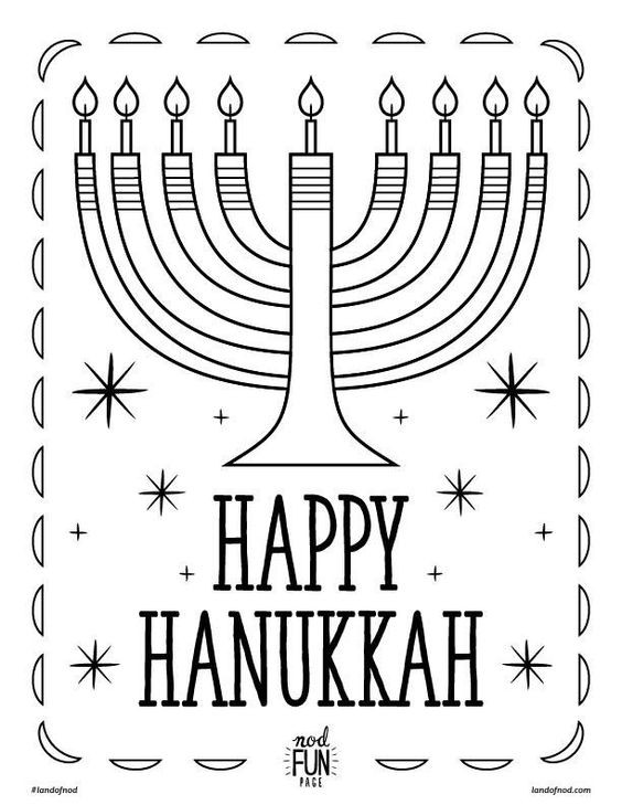 Hanukkah Coloring Pages  Hanukkah Themed Coloring Page on Honesttonod