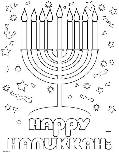 Hanukkah Coloring Pages  1000 images about Hanukkah Coloring Pages on Pinterest