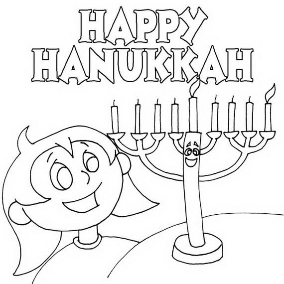Hanukkah Coloring Pages  Hanukkah Coloring Pages Menorahs family holiday