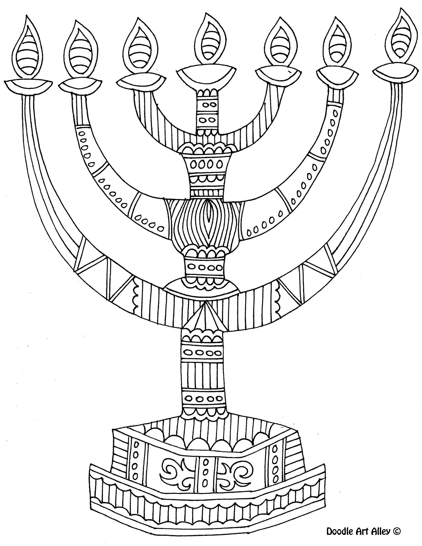 Hanukkah Coloring Pages  8 of the best most artful Hanukkah coloring pages