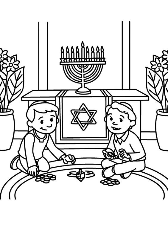 Hanukkah Coloring Pages  Free Printable Hanukkah Coloring Pages for Kids Best