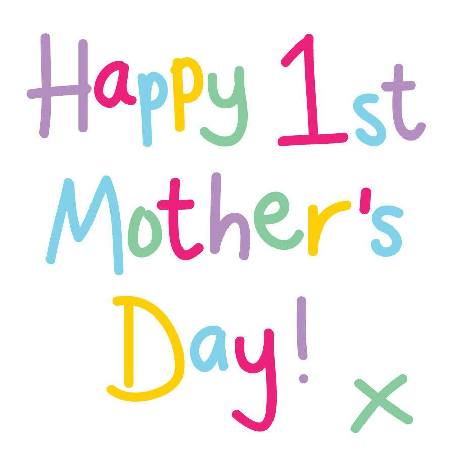 Happy 1St Mothers Day Quotes  Happy First Mothers Day Card HAPPY MOTHERS DAY