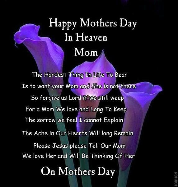 Happy 1St Mothers Day Quotes  Happy Mother s Day in Heaven My first Mother s Day