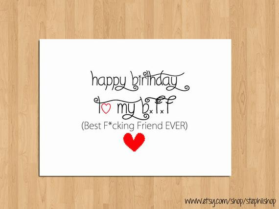 Happy Birthday Best Friend Funny  Funny Happy Birthday Card for Best Friend Happy by StephiiShop