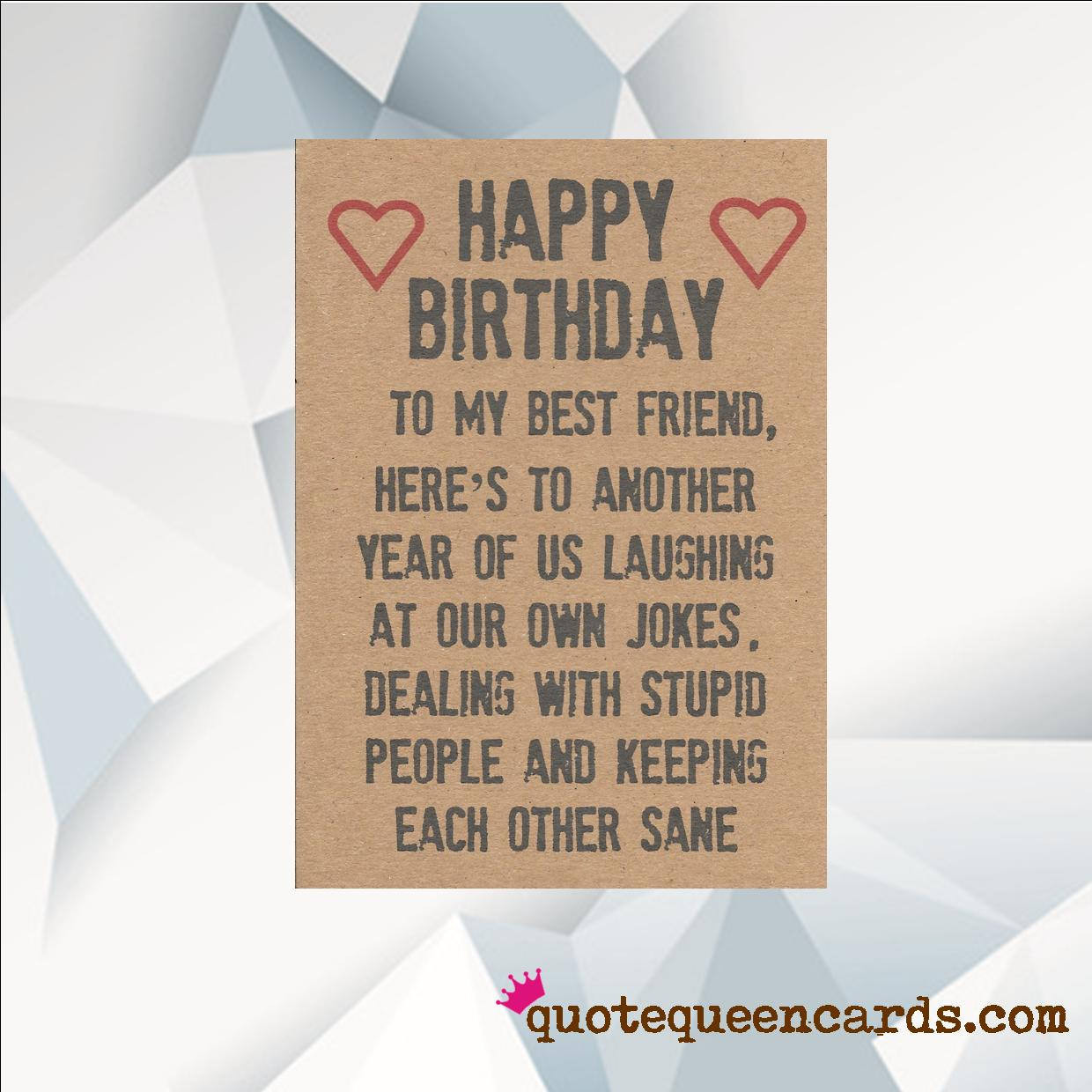 Happy Birthday Best Friend Funny  Happy Birthday BEST FRIEND Funny Birthday Card For Friend