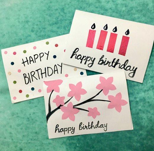 Happy Birthday Card Diy  3 Easy 5 Minute DIY Birthday Greeting Cards
