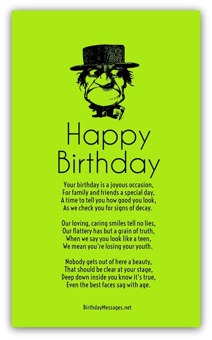 Happy Birthday Funny For Her  Funny Birthday Poems Page 2 Cards