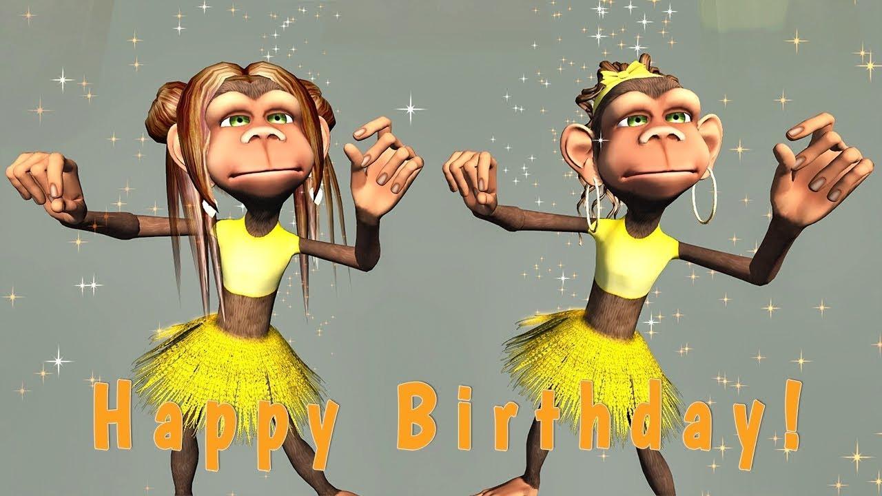 Happy Birthday Funny For Her  Funny Happy Birthday Song Monkeys sing Happy Birthday