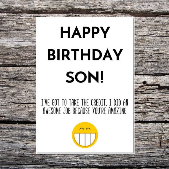 Happy Birthday Funny Son  son birthday card funny son birthday card funny happy