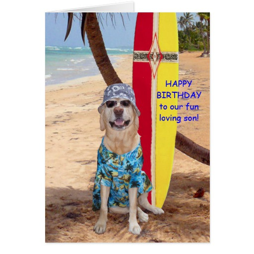 Happy Birthday Funny Son  Customisable Funny Son Birthday Greeting Card