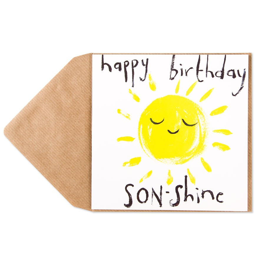 Happy Birthday Funny Son  Son Shine Birthday Card For Son