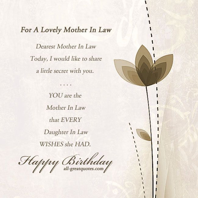 Happy Mothers Day Mother In Law Quotes  motherinlaw happybirthday birthdaycards birthdaywishes