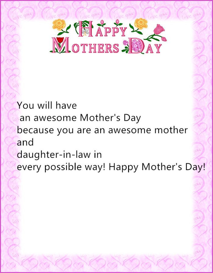 Happy Mothers Day Mother In Law Quotes  Quotes about Mothers day from daughter 16 quotes