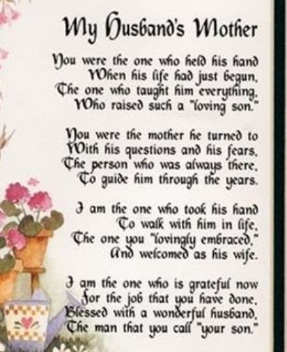 Happy Mothers Day Mother In Law Quotes  For my sweet Mother n Law