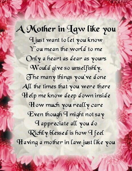 Happy Mothers Day Mother In Law Quotes  Mama Terri here s for you when I marry your son love