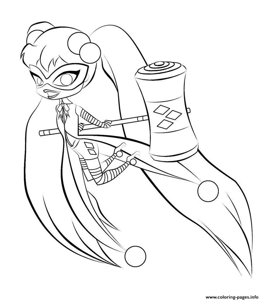 Harley Quinn Coloring Pages For Kids  Print harley quinn kids online harley quinn coloring pages