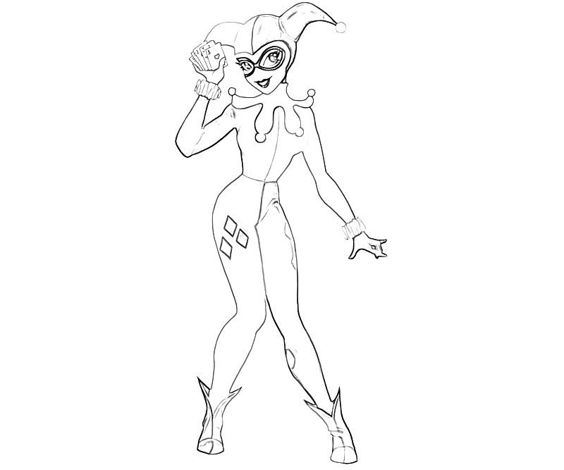 Harley Quinn Coloring Pages For Kids  Batman Arkham City Harley Quinn Character