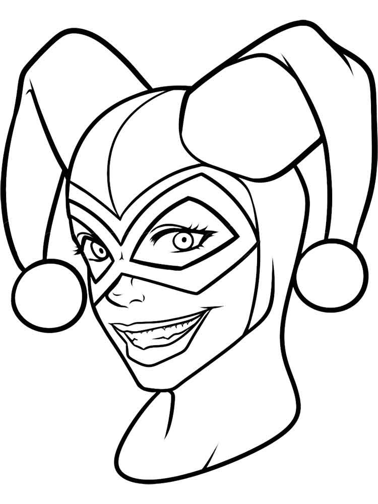 Harley Quinn Coloring Pages For Kids  Harley Quinn Coloring Pages Best Coloring Pages For Kids