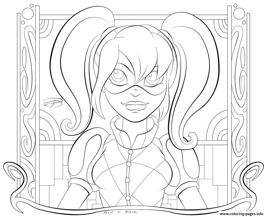 Harley Quinn Coloring Pages For Kids  Harley Quinn Coloring Pages Coloring Home