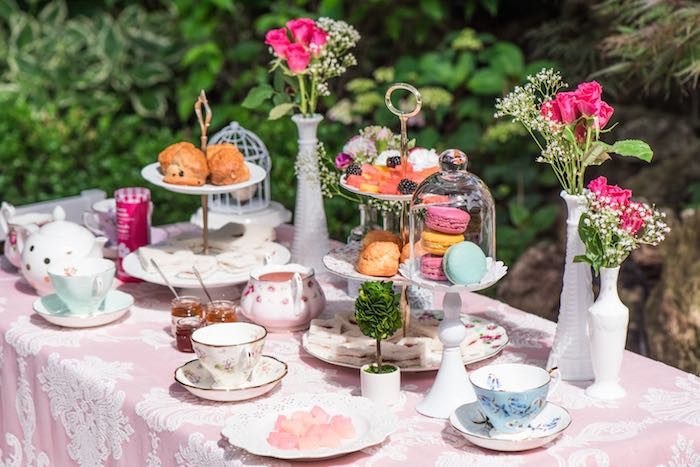 High Tea Party Ideas  Kara s Party Ideas Outdoor Afternoon Tea Party via Kara