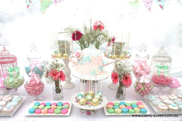 High Tea Party Ideas  Kara s Party Ideas Floral High Tea Bridal Shower Party