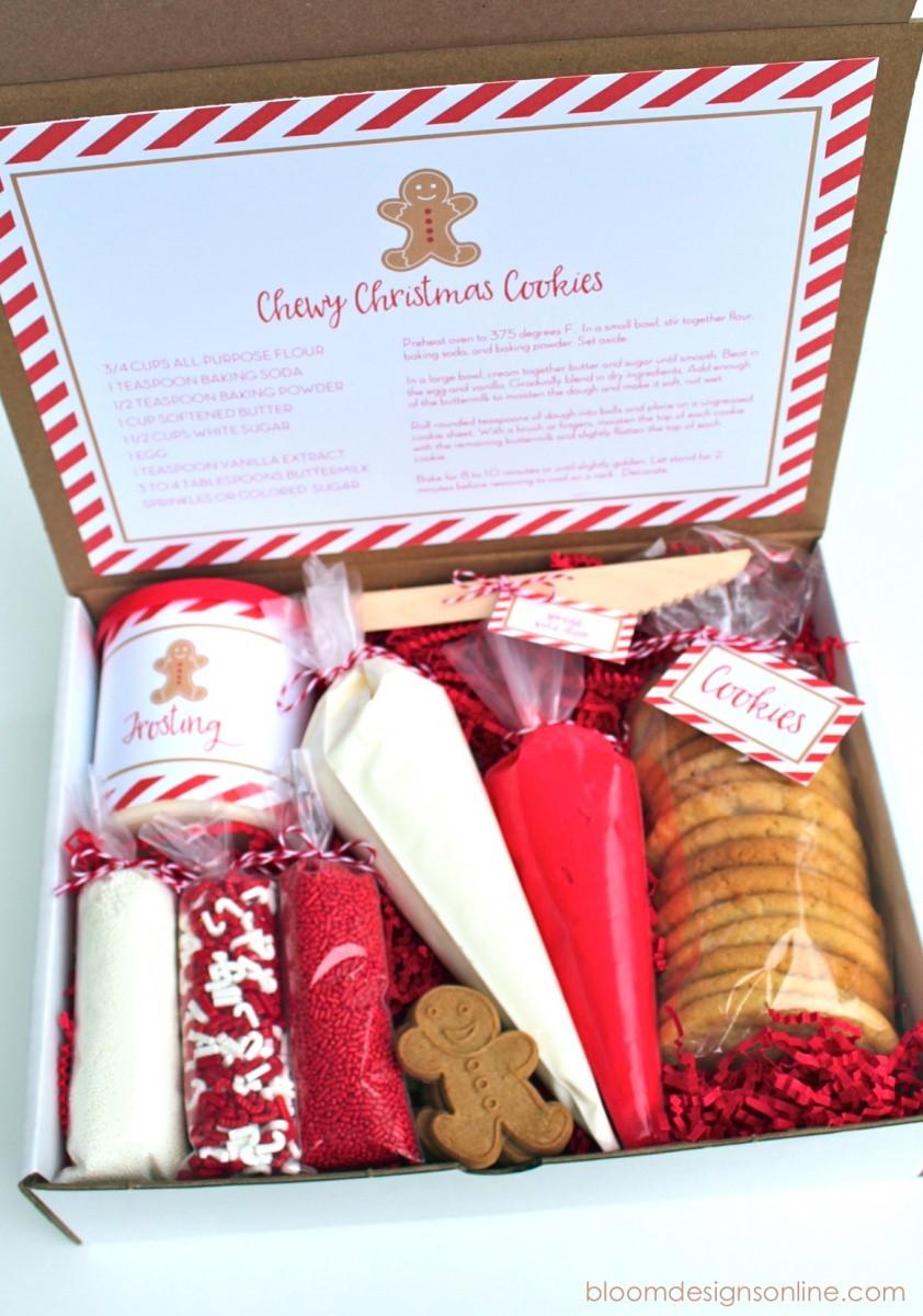 Holiday Cookies Gift Ideas  Christmas Cookie Kit Bloom Designs