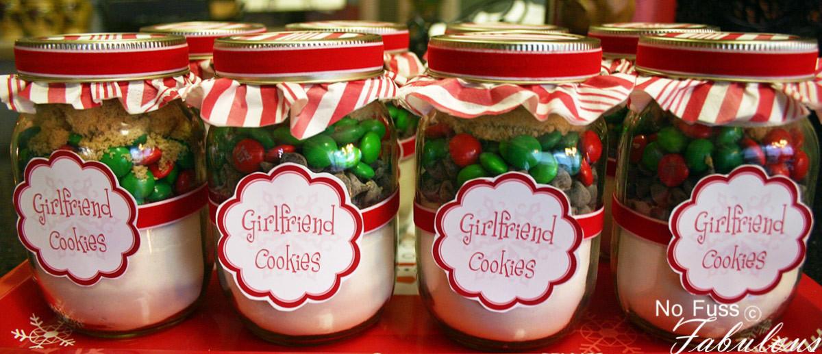 Holiday Cookies Gift Ideas  Christmas Girlfriend Cookies in a Jar Loralee Lewis