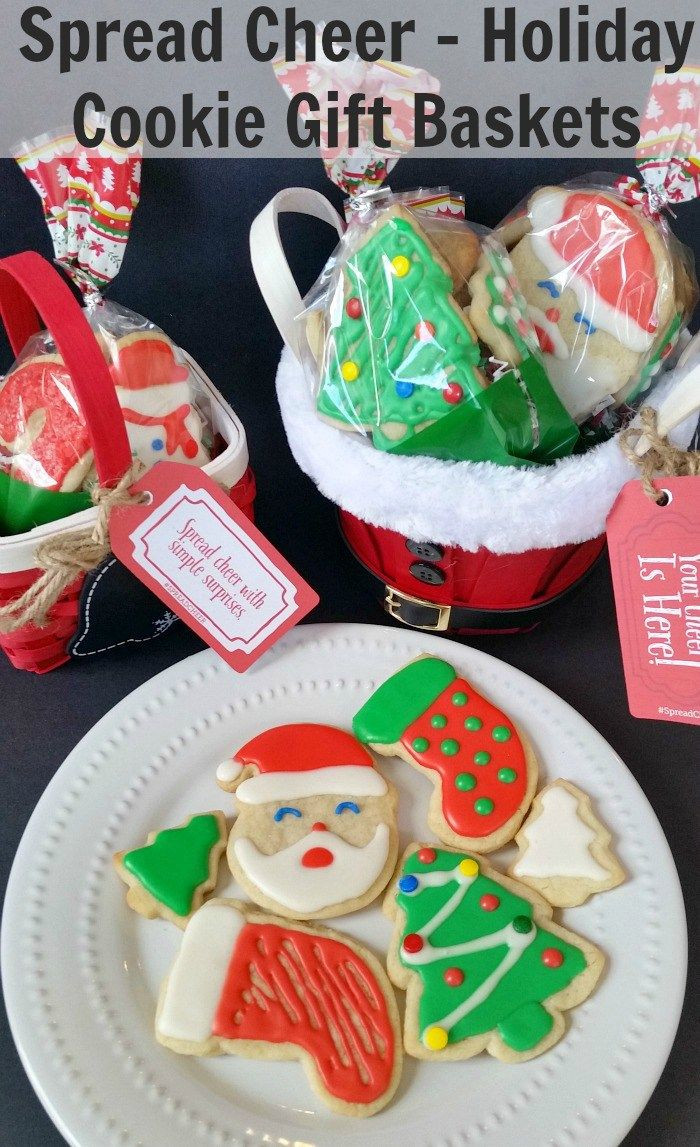 Holiday Cookies Gift Ideas  Best 25 Cookie t baskets ideas on Pinterest