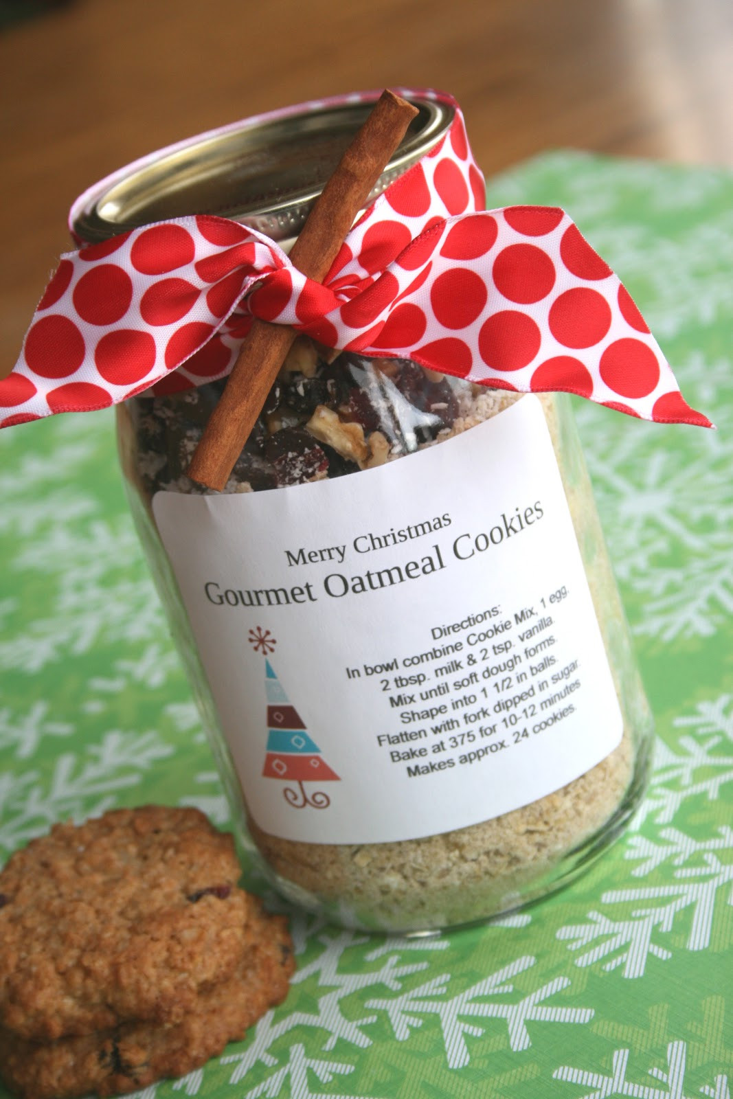 Holiday Cookies Gift Ideas  Gourmet Oatmeal Cookie Mix In A Jar Echoes of Laughter