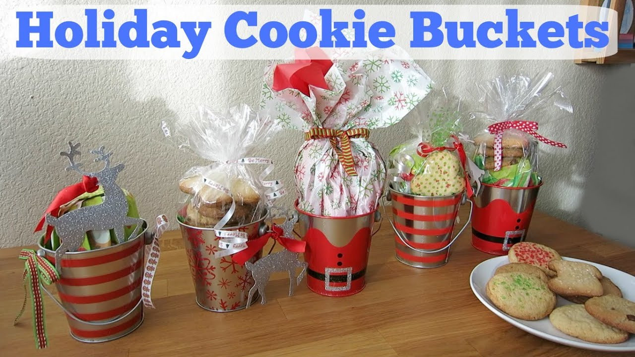 Holiday Cookies Gift Ideas  DIY Holiday Cookie Buckets
