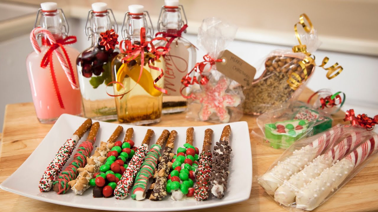 Holiday Cookies Gift Ideas  3 HOLIDAY EDIBLE GIFT IDEAS Chocolate Pretzels Cookie