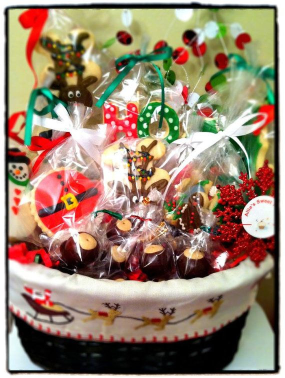 Holiday Cookies Gift Ideas  Cookie t baskets Cookie ts and Baskets on Pinterest