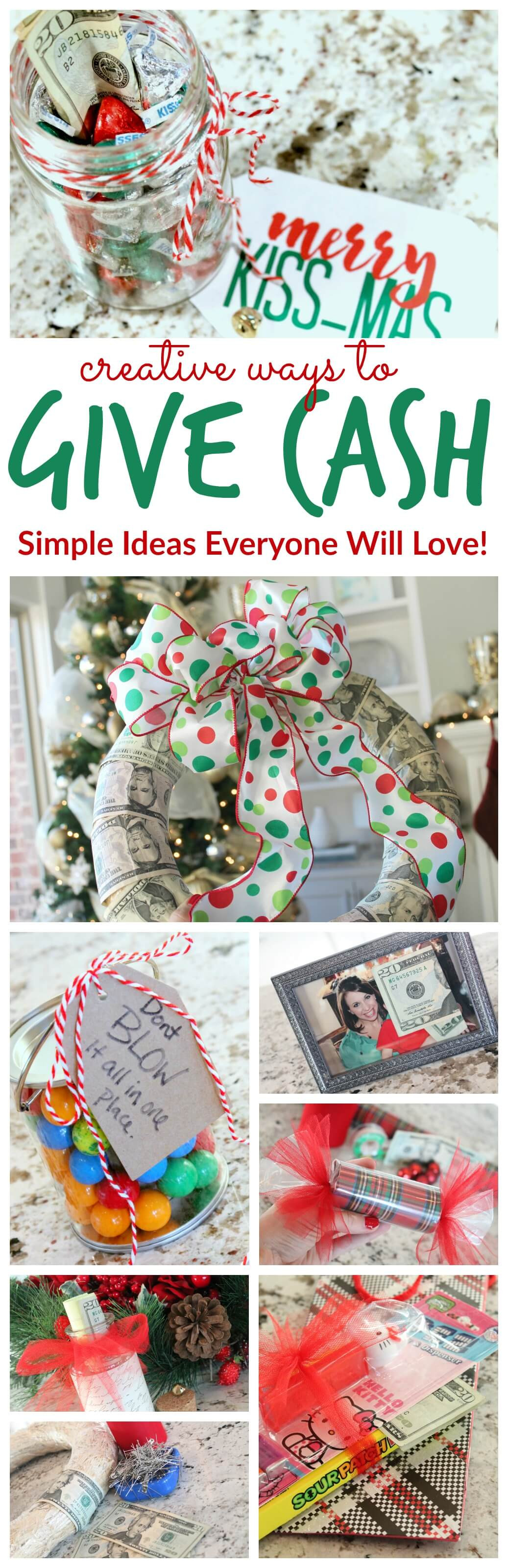 Holiday Gift Giving Ideas  Creative Ways to Give Cash as a Gift