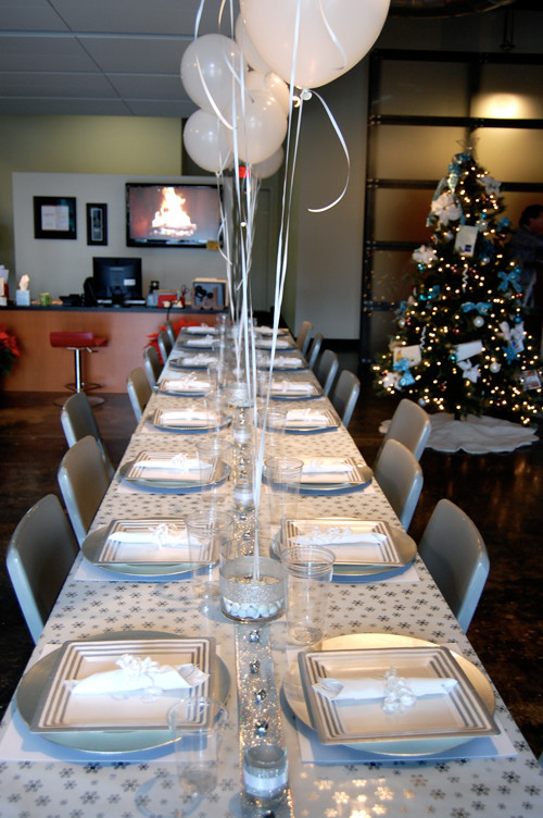 Holiday Party Ideas For Small Office  Winter Wonderland Themed pany Christmas Party on a $50