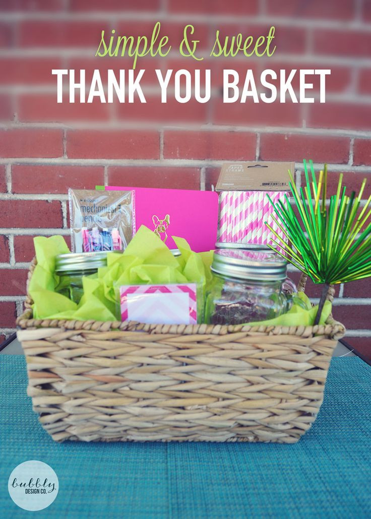 Homemade Thank You Gift Basket Ideas  86 best Thank You Gift Ideas images on Pinterest