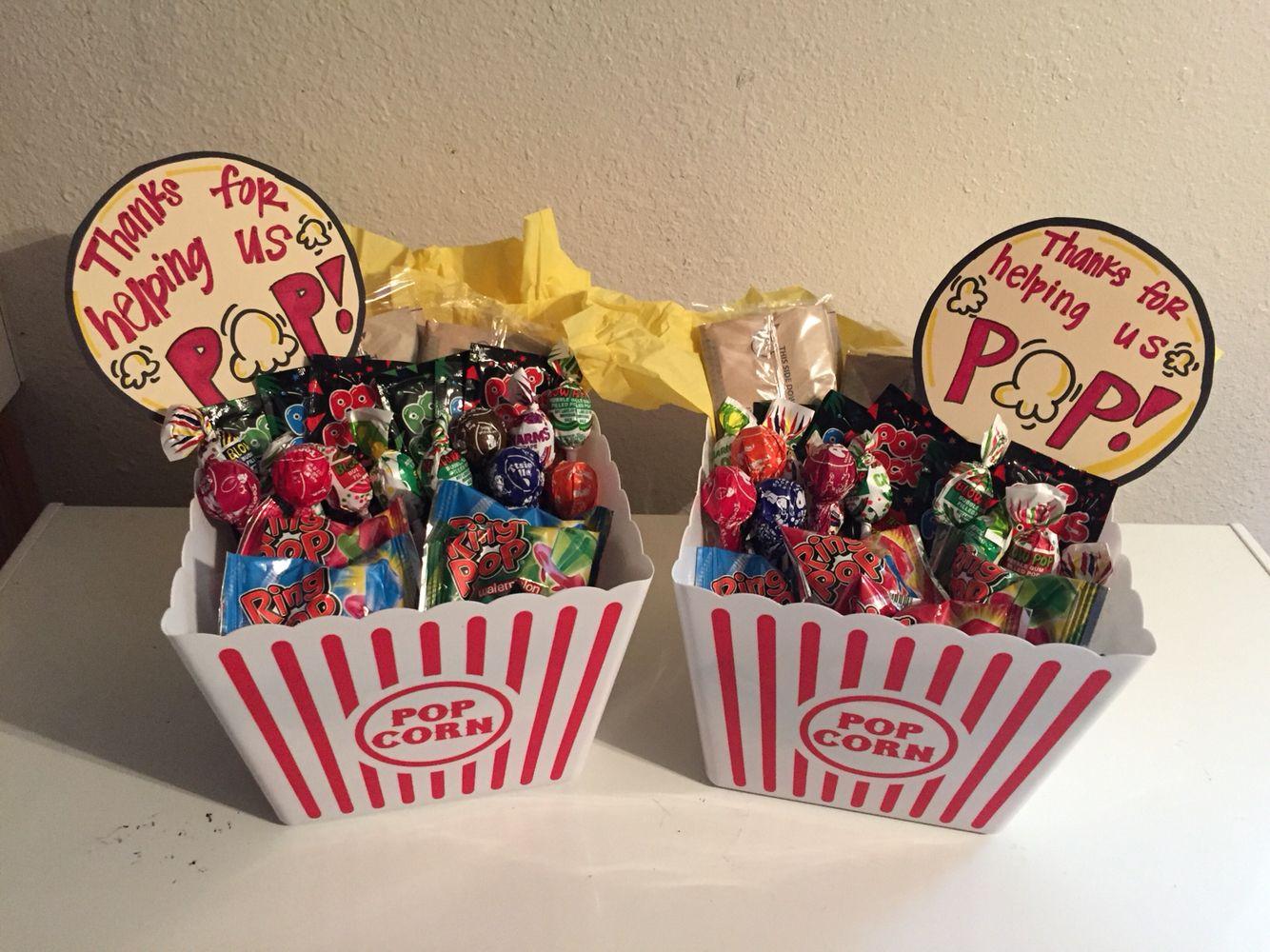 Homemade Thank You Gift Basket Ideas  Thanks For Helping Us Pop Thank You Gift Baskets for