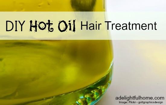 Hot Oil Hair Treatment DIY  DIY Hot Oil Hair Treatment A Delightful Home